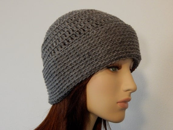 Crochet PATTERN PDF The January Hat Folded Cuff Hat Winter