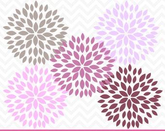 60% OFF SALE Flower Clipart, Dahlia Flowers, Clipart Flowers, Digital Dahlia, Wedding Clipart, Digital Flowers, Scrapbook Flowers, CA219