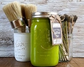 Handmade ChalkFinish Paint, Green, Painted Furniture, Chalk Painted Furniture, Shabby Chic Furniture, Chalk Paint Brushes, AppleTini Green