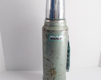 Vintage Thermos Aladdin Stanley Green Thermos 1960's Collectible
