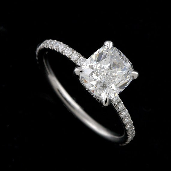 diamonds delicate thin engagement ring cut micro pave