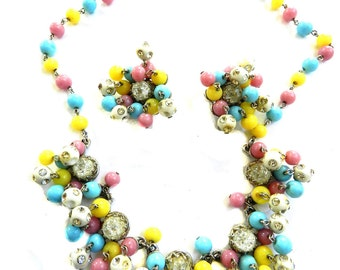 Kramer N.Y. Cha Cha Necklace and Earrings 1950s