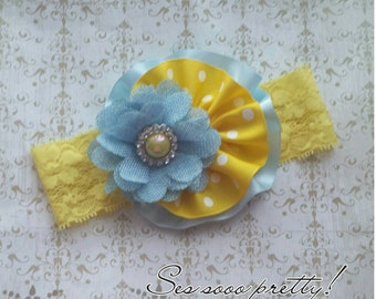 Flower lace headband
