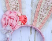 Pink Vintage Chic Bunny Ears