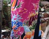 woman's sarong batik skirt hand painted
