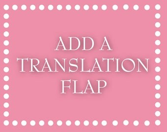 Add a Translation Flap to a Pocketfold Invitation Suite