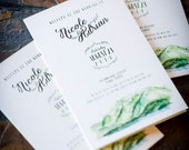 Lake Tahoe Wedding Stationery Items: Programs, Menu's, Place Cards
