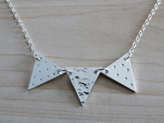 Silver Bunting Necklace - Sterling Silver