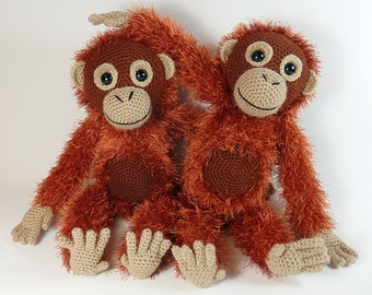 Orwell the Orangutan - Amigurumi Crochet Pattern