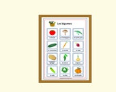 French School Poster-Vegetable Vocabulary in French-Teacher Gift-Educational Printables-Classroom decor, homeschooling, teaching material