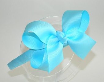 Ocean Blue Bow Headband - Blue Bow Headband, Bow Headband