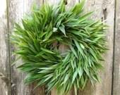 Reserved listing - Fresh Spring Wreath, Bamboo Wreath - Ohana Ha'aheo - Bamboo