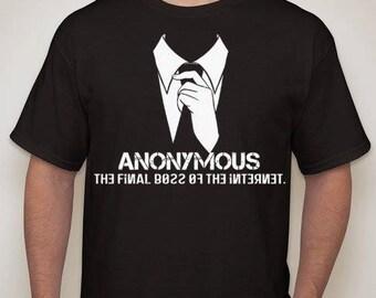 Anonymous Final boss of the internet T-shirt t shirt Anon mask