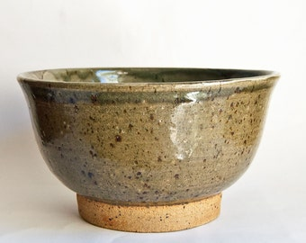 Danish Studio Pottery Large Stoneware Bowl by Annette From, 1982