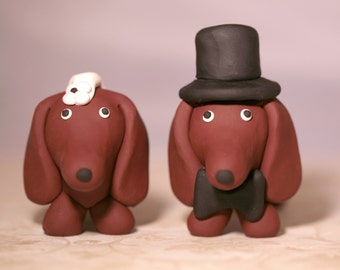 Dachshund Wiener Dog Wedding Cake Topper