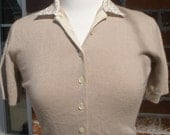Vintage Ladies' Sexy Button-up Sweater--1950s/1960s