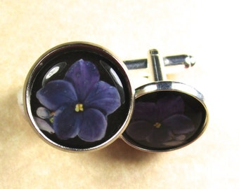 Violet Cufflinks
