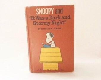 Book Kindle Cover,  Nook Cover- Ereader Case- Snoopy and it was a Dark Stormy Night