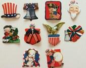 10 Vintage Patriotic Sticker / Seals