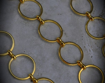 23 Inch Gold Plated Large Round Chain