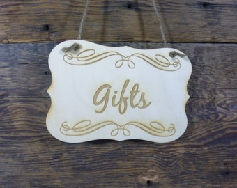 Wedding Gifts Sign Gifts Table Signage Engraved Wooden Decoration for Wedding  Rustic Chic Wedding Decor Wooden Sign