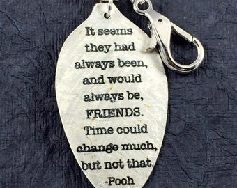 Winnie the Pooh Keychain, It seems they had always been, and would always be, FRIENDS. Time could change much, but not that keychain, Pooh