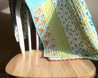Modern Chunky Patchwork Quilt
