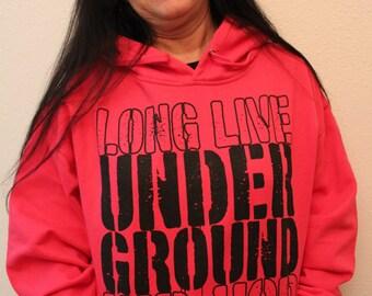 Pink Underground Hip Hop Hoodie Sweatshirt