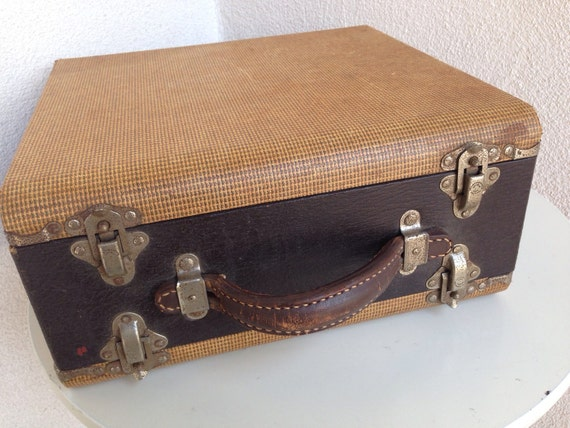 Vintage slide case baja by barnett jaffee two sided leather - Fax caser bajas ...