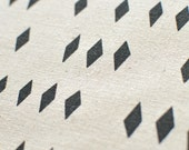 Fragments in Charcoal Grey : hemp/organic cotton handprinted fabric panel