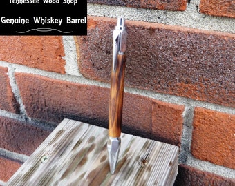 Wood Pen Handmade Whiskey Barrel Vertex Mechanics Pen