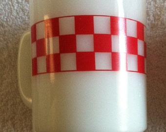 Anchor Red and White Cups Set of 5