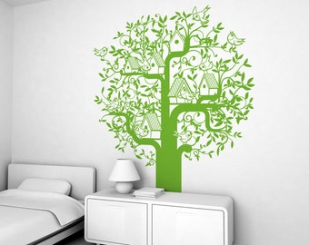Tree Kids Wall Decal (free shipping) - Large Children Wall Stickers for Baby Nursery or Kids Room