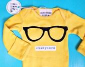 "Swanky Shank Hand-Dyed Bodysuit ""#babynerd"""