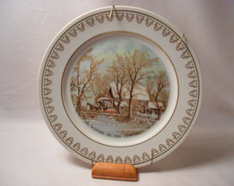 The Old Grist Mill Plate by Currier and Ives
