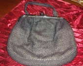 little black beaded purse