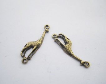 30pcs antique bronze Giraffe finding charm