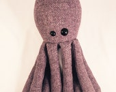 Upcycled Purple Tweed Octopus!