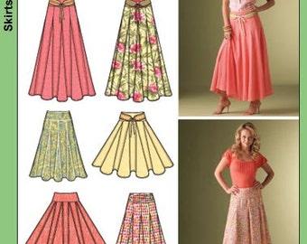 Sewing Pattern-Simplicity Full Skirt including Waist Cincher Belt Size 8,10,12,14,16