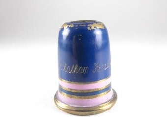 Collectible Thimble Photo Peep Chatham Historic Dockyard Lord Nelsons Flagship HMS Victory