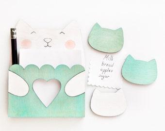 Aquamarine Magnets, menu board magnet, fridge magnets, Cat, Many color variations