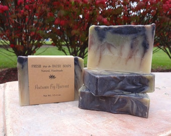Autumn Fig Harvest, Natural Handmade Soap, Cold Process, Vegan, Fall Soap