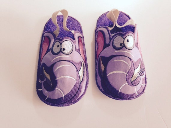 kids bedroom slippers elephant slippers embroidered slippers made to