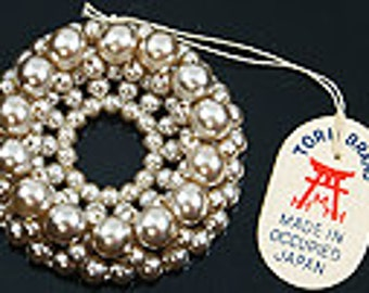 "Vintage Imitation Pearl  1 1/4"" Sew-on embellishment"