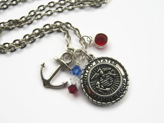 us marine corps necklace marine necklace military jewelry. Black Bedroom Furniture Sets. Home Design Ideas