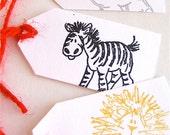 CUSTOM ORDER for Nicole -- Zoo Animal Gift Tags