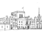 Custom Portrait of wedding venue, commitment ceremony, anniversary, vacation, holiday venue, architectural sketch, home portrait drawing