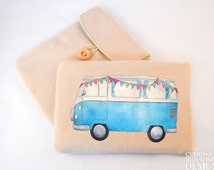 Campervan Digital Media Case, ipad Case, Kindle Case, Tablet Case, Padded Sleeve, Protective Case