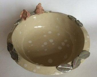 Pretty Ceramic Rose Bowl