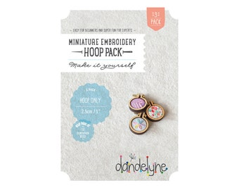 "3 PACK of 1""/2.5cm teeny tiny embroidery hoops ***NEW*** - embroidery - cross-stitch - Dandelyne design"